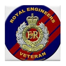 royal engineer veterant Tile Coaster