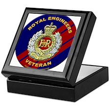 royal engineer veterant Keepsake Box