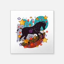 """Star Pony Square Sticker 3"""" x 3"""""""