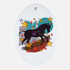 Star Pony Ornament (Oval)