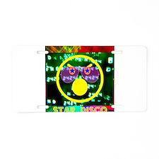 Star Disco Graphic Aluminum License Plate