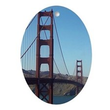 Oval Ornament - Golden Gate