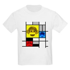 Mondrian Sock Monkeys Kids T-Shirt