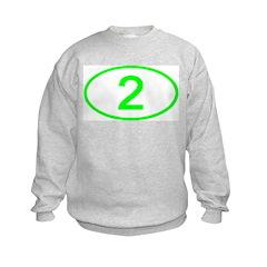Number 2 Oval Sweatshirt