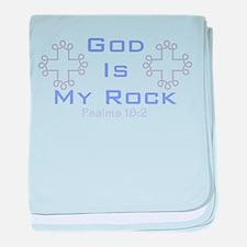 God Is My Rock 555 baby blanket