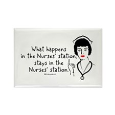 What Happens in the Nurses Station Rectangle Magne