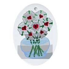 Luther's Roses in Vase Ornament (Oval)