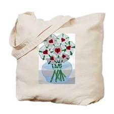 Luther's Roses in Vase Tote Bag