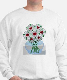 Luther's Roses in Vase Sweatshirt