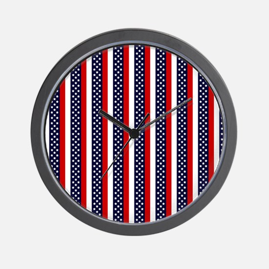 Patriot Stripes Wall Clock
