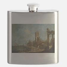 Francesco Guardi - Capriccio of a Harbor Flask