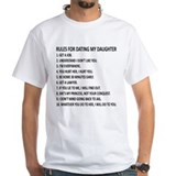 Rules for dating my daughter Mens White T-shirts