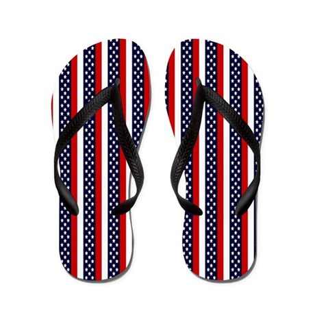 Patriot Stripes Flip Flops
