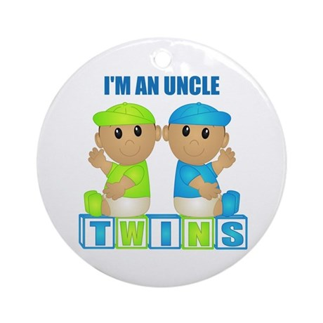 I'm An Uncle (TBB:blk) Ornament (Round)