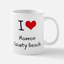 I Love MONROE COUNTY BEACH Mug