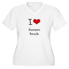 I Love NAVARRE BEACH Plus Size T-Shirt