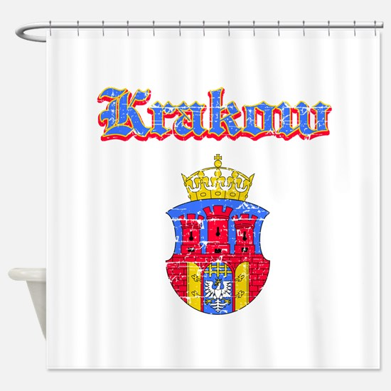 Krakow City designs Shower Curtain