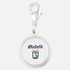 Madrid City designs Silver Round Charm