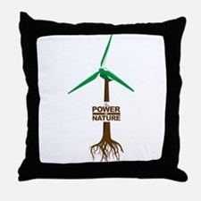 Roots of Green Energy Throw Pillow