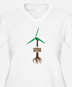 Roots of Green Energy Plus Size T-Shirt