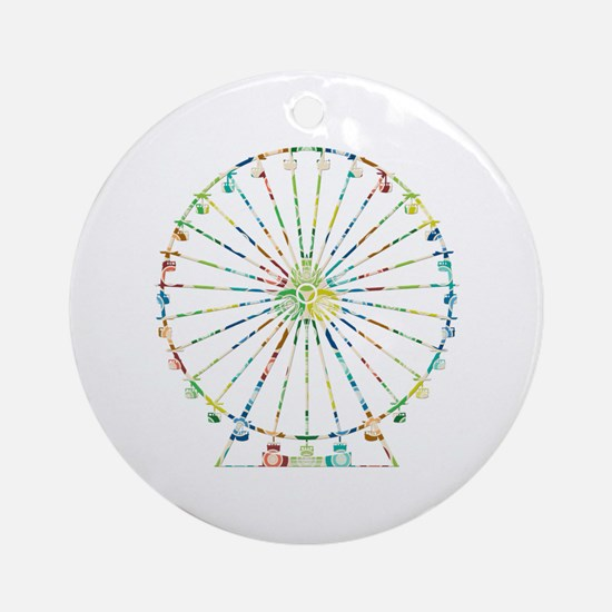 Ferris Wheel Ornament (Round)