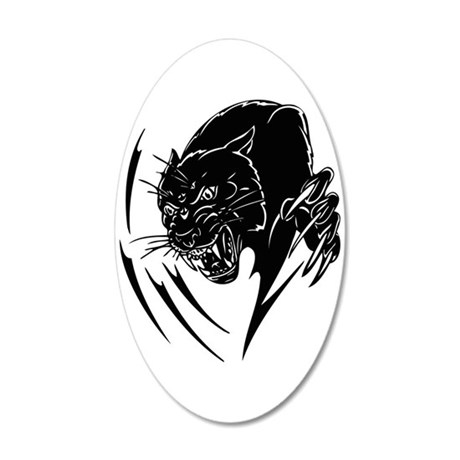 Black panther decal wall sticker by paintitblack for Black panther mural