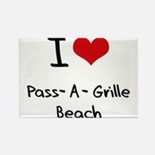 I Love PASS-A-GRILLE BEACH Rectangle Magnet
