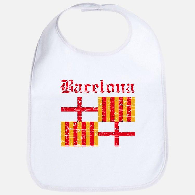 Bacelona flag designs Bib