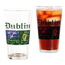 Dublin flag designs Drinking Glass