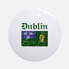 Dublin flag designs Ornament (Round)