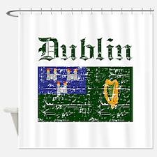 Dublin flag designs Shower Curtain