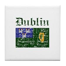 Dublin flag designs Tile Coaster