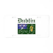 Dublin flag designs Aluminum License Plate