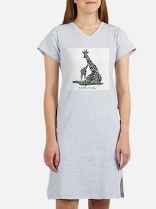Giraffe Family Women's Nightshirt