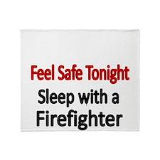 Feel safe tonight. Sleep with a Firefighter Throw