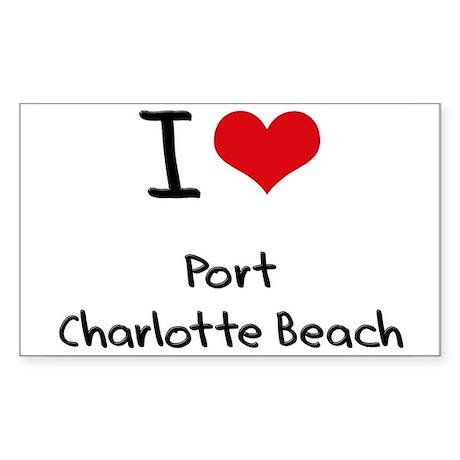 I Love PORT CHARLOTTE BEACH Sticker