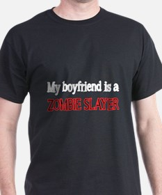 My boyfriend is a Zombie Slayer 2 T-Shirt