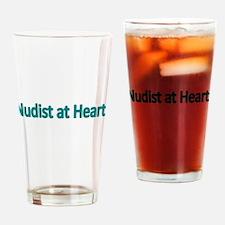 Nudist at Heart Drinking Glass
