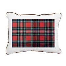 Royal Stewart Tartan Rectangular Canvas Pillow