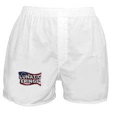 Lunatic Fringe Flag (txt) Boxer Shorts