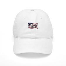 Lunatic Fringe Flag (txt) Baseball Baseball Cap