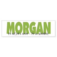 Morgan IT'S AN ADVENTURE Bumper Car Sticker