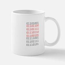"""Say """"I Love You"""" in binary code Mug"""