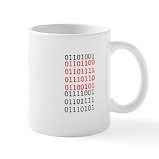 """Say """"I Love You"""" in binary code Small Mug"""