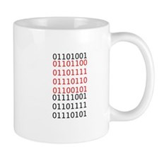 "Say ""I Love You"" in binary code Small Mugs"