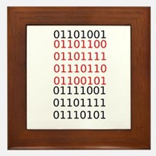 "Say ""I Love You"" in binary code Framed Tile"