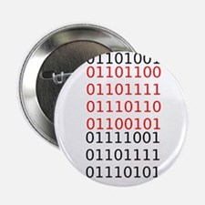 """Say """"I Love You"""" in binary code 2.25"""" Button"""