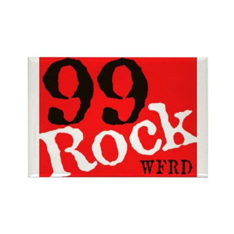 99 Rock Rectangle Magnet