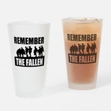 Remember Our Troops Drinking Glass