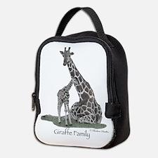 Giraffe Family Neoprene Lunch Bag
